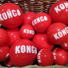 Signature Ball KONG Kit 2 Bolas com apito para cães