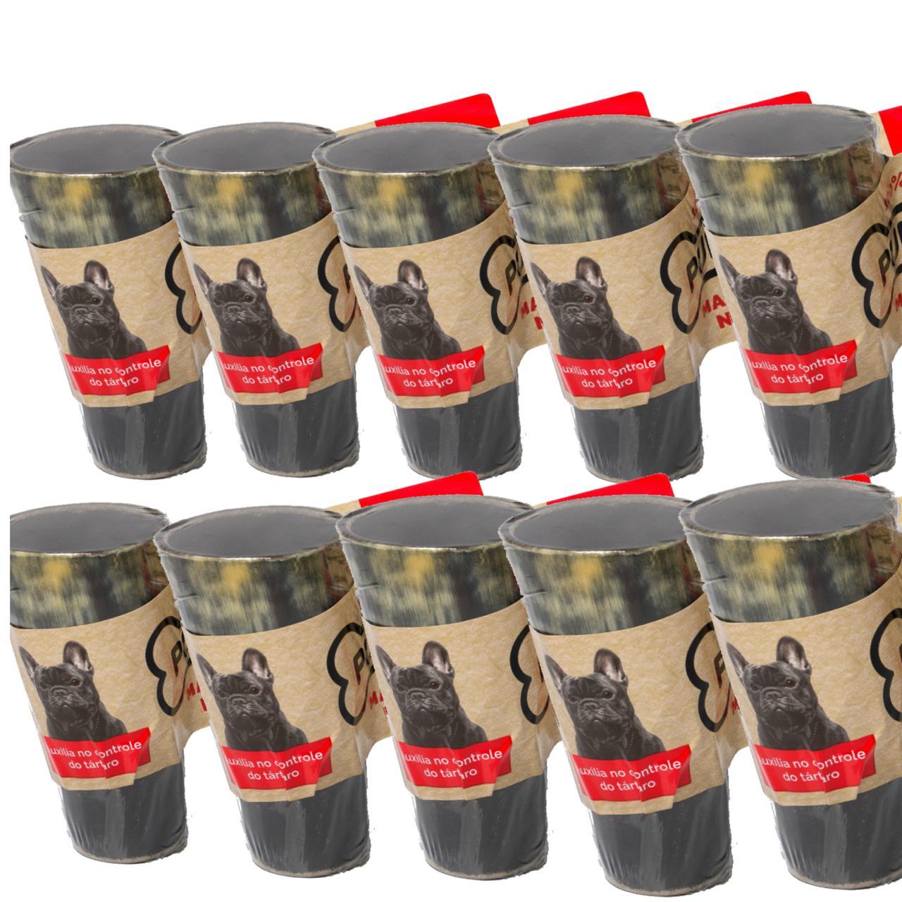 Kit com 10 chifres bovinos Puretoy para cães