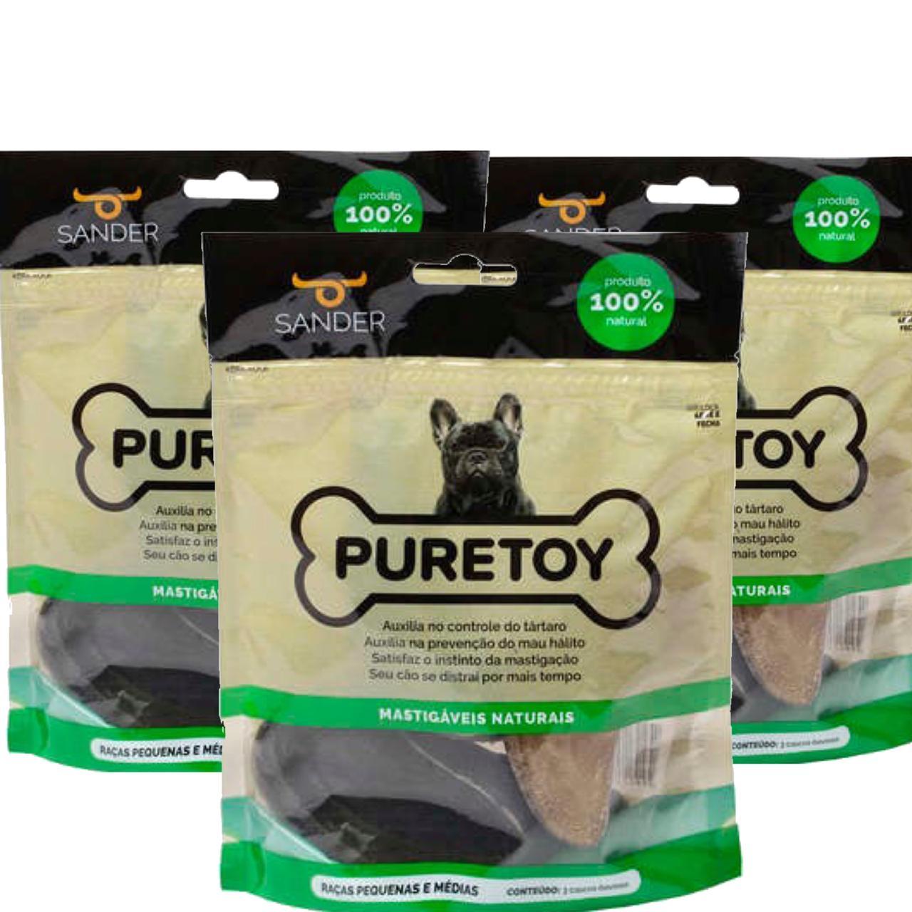 Kit com 9 cascos bovinos Mordedores Mastigáveis Puretoy