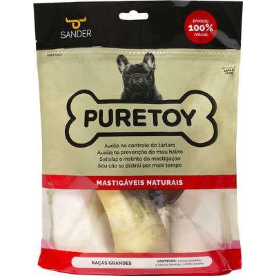 Kit Puretoy Mordedores Naturais de boi para cães de Raças Grandes