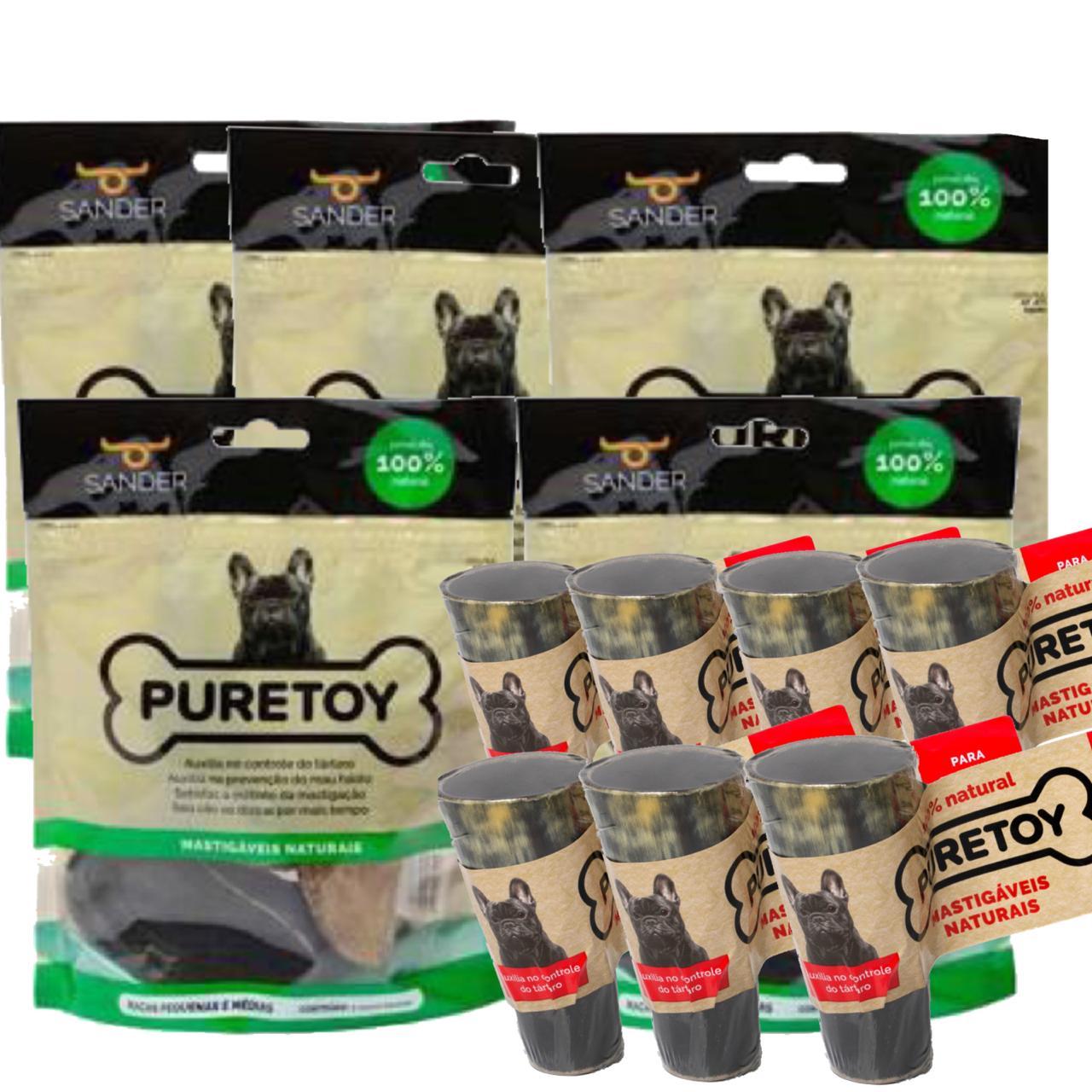 Kit Puretoy 15 cascos (5 pacotes) bovino + 7 chifres bovino
