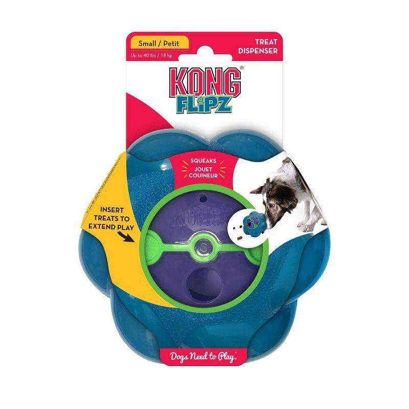 Brinquedo Recheável Flipz Kong para cães - dispenser com apito