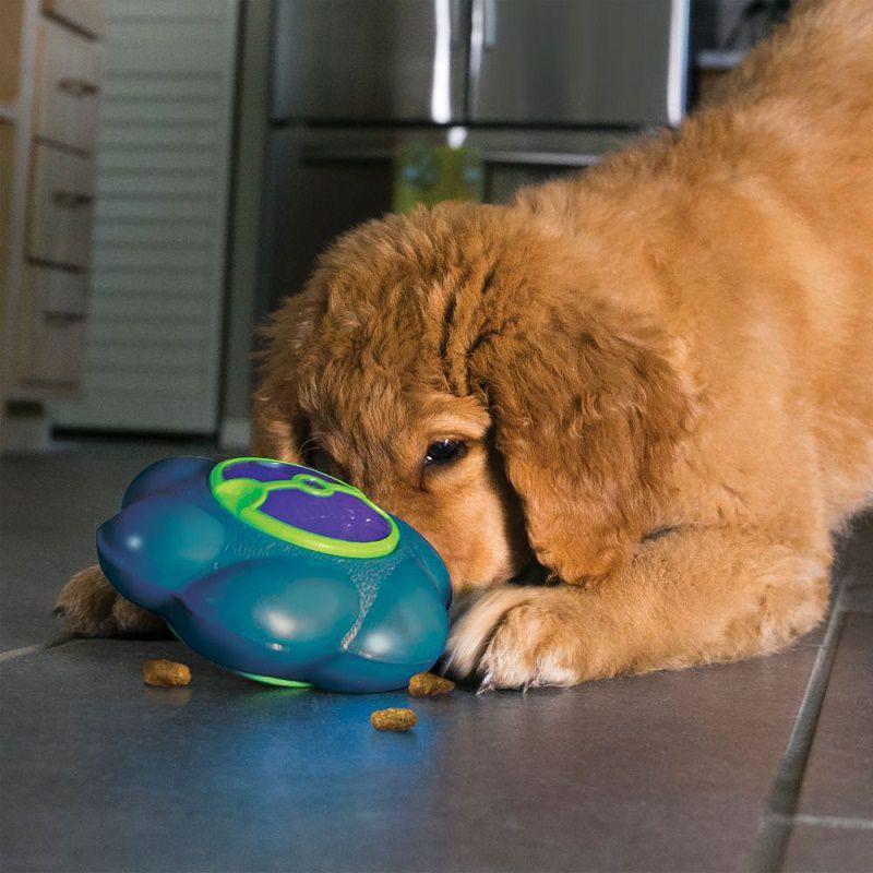 Lançamento Brinquedo Recheável Flipz Kong para cães - dispenser de comida com apito