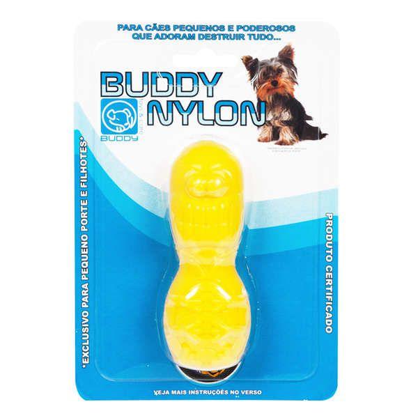 Mini Mordedor para roer Pulguinha Nylon para cães filhotes ou adultos de pequeno porte Buddy Toys