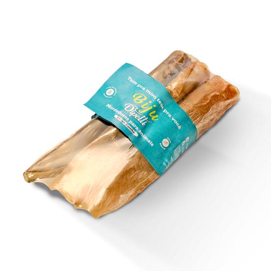 Mordedor Natural Kit com 3 Orelhas Bovinas Desidratadas Biju Dipetti  para cães