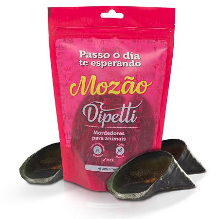 Mordedor Natural Mozão Kit com 3 Cascos Bovinos Dipetti para cães