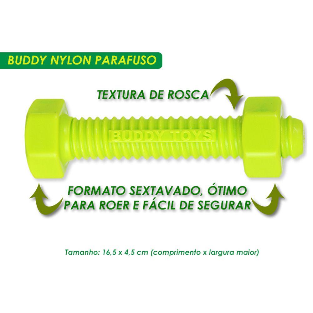 Mordedor para roer de Nylon Parafuso Buddy Toys para cães