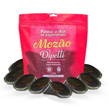Mordedores Naturais Mozão Kit com 8 cascos bovinos Dipetti para cães