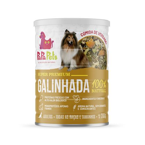 Papapets sabor Frango Galinhada - Alimento Úmido Super Premium 100% natural para cães 280g