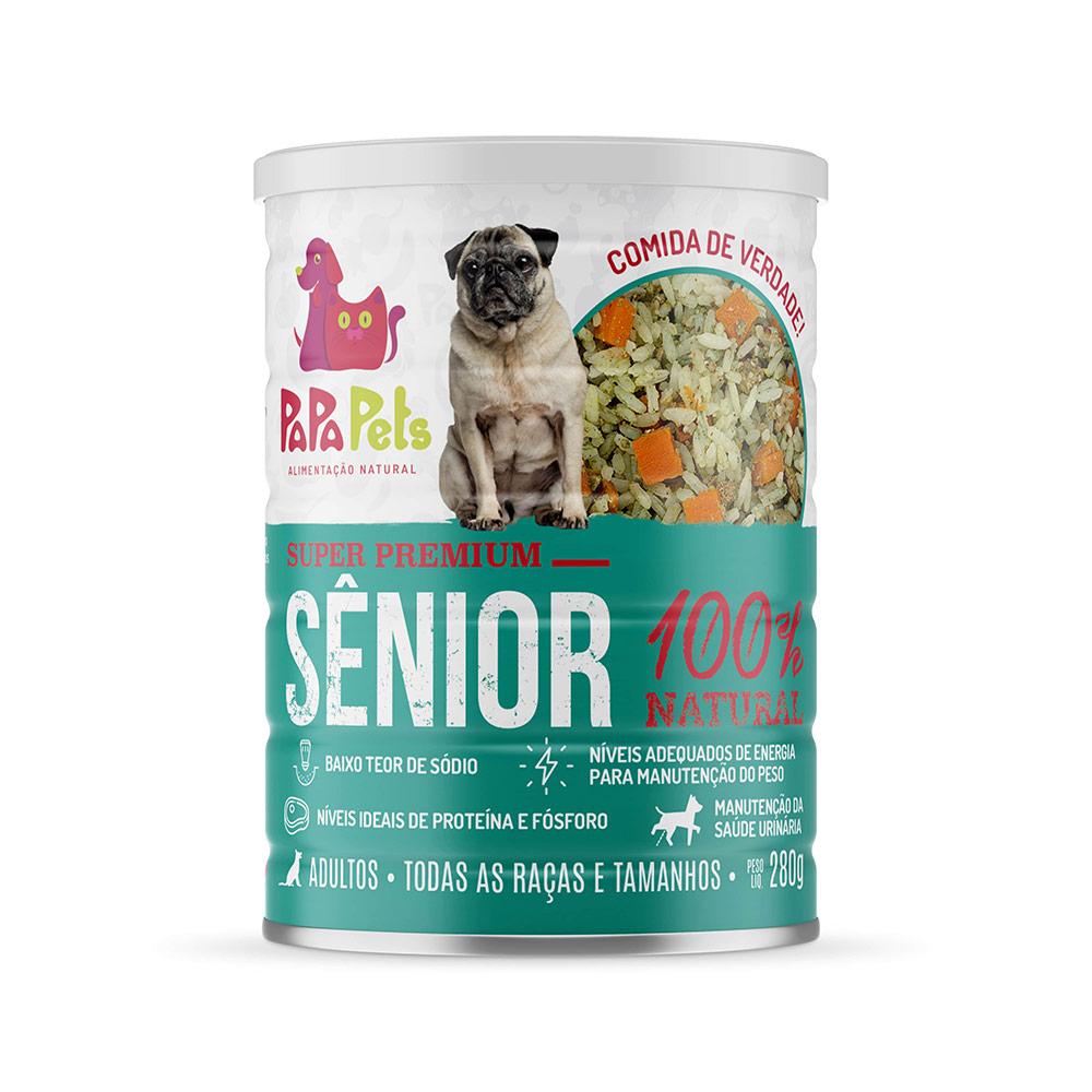 Papapets Senior - Alimento Úmido Super Premium 100% natural para cães adultos 280g
