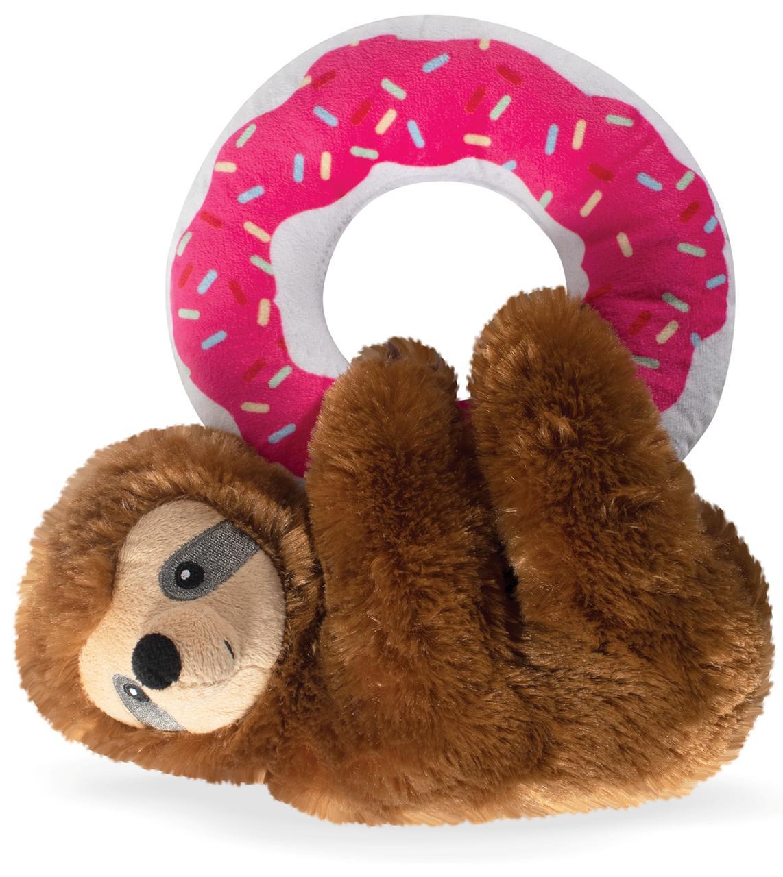 Pelúcia Bicho Preguiça com Donuts com apito para cães