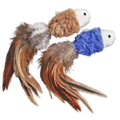 Brinquedo para gatos Pelúcia com penas Crinkle Fish KONG