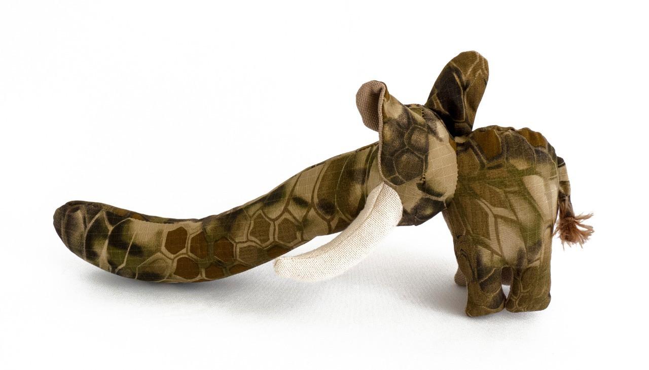 Pelúcia Elefante Tromba de Lona e apito cães Petlon
