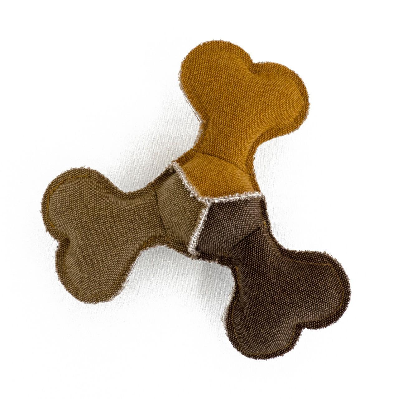 Pelúcia Frisbee Osso de Lona com corda e apito cães Petlon