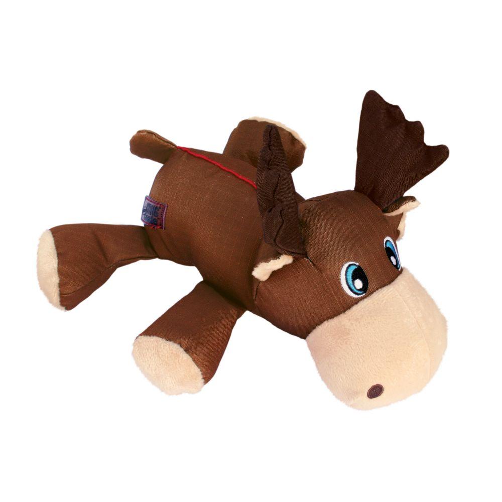 Pelúcia Kong Cozie Ultra Max Moose  - Alce tecido reforçado com apito para cães