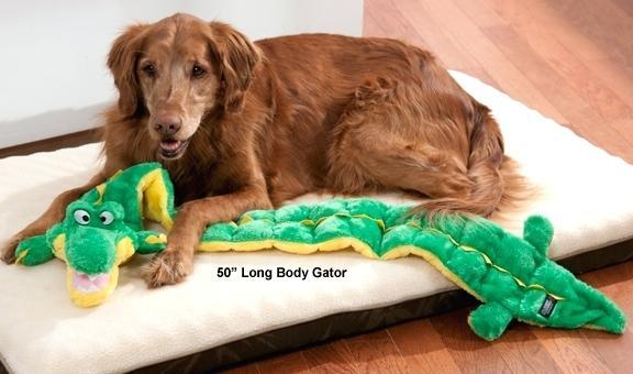 Brinquedo para cães Pelúcia Mega Squeaker com apito Jacaré Gigante
