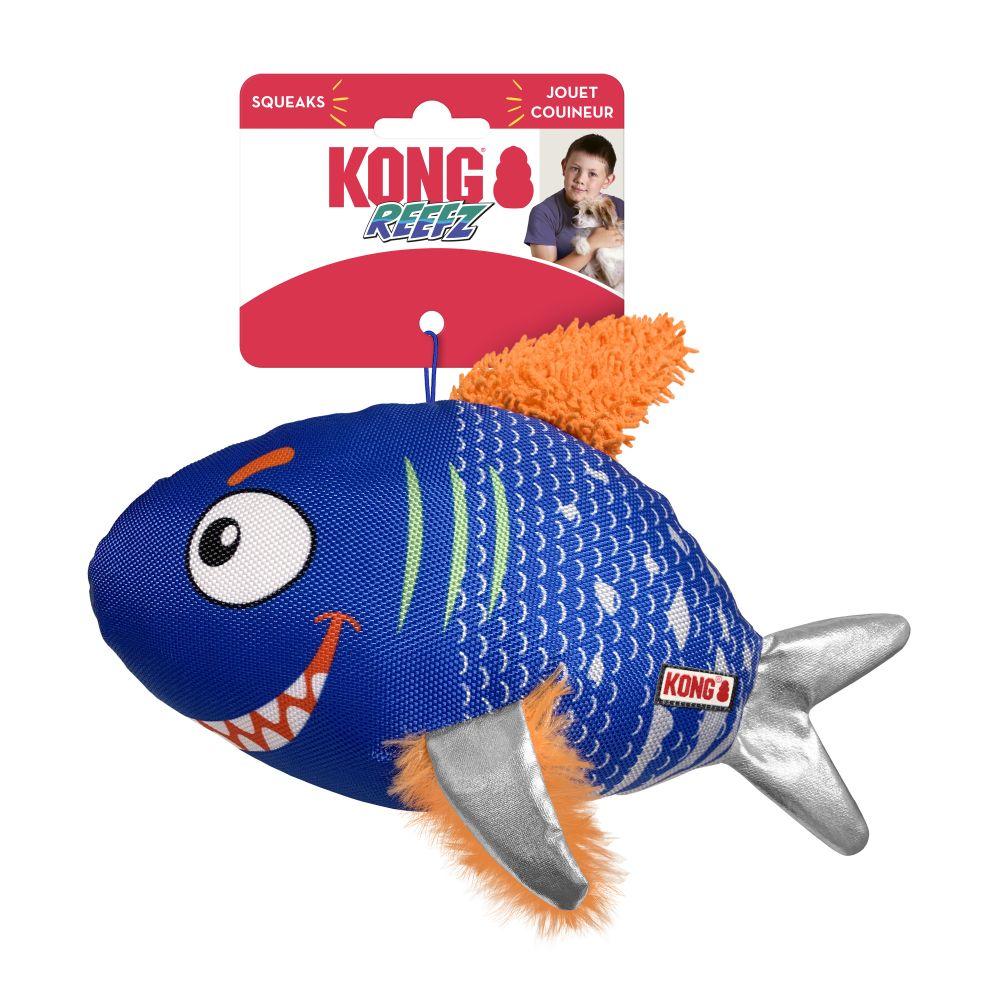 Pelúcia peixe Reefz KONG com lona e apito G