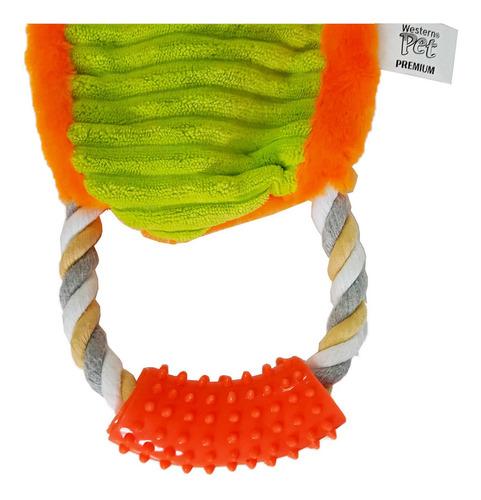 Pelúcia Raposa com corda e barulho de saco plástico para cães