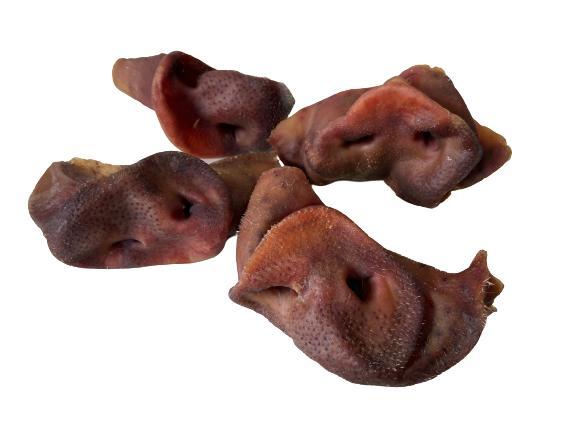 Petisco Desidratado Lecker Focinho de Suíno  para cães