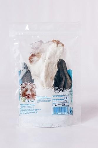 Petisco Desidratado Lecker Orelhas de Coelho para cães