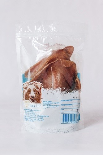 Petisco Desidratado Orelhas Suínas Lecker para cães