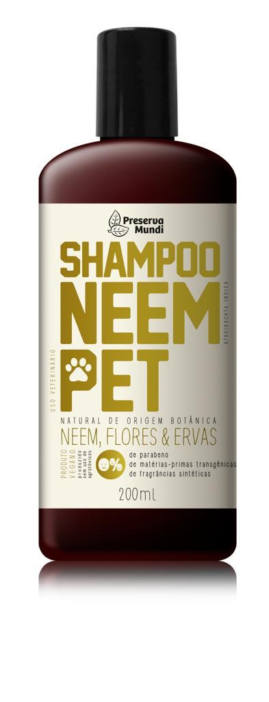 Shampoo Neem Pet  Natural - Preserva Mundi para cães e gatos