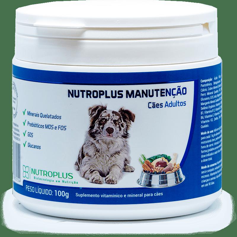 Suplemento Alimentar Nutroplus Manutenção para cães adultos alimentação caseira 100g