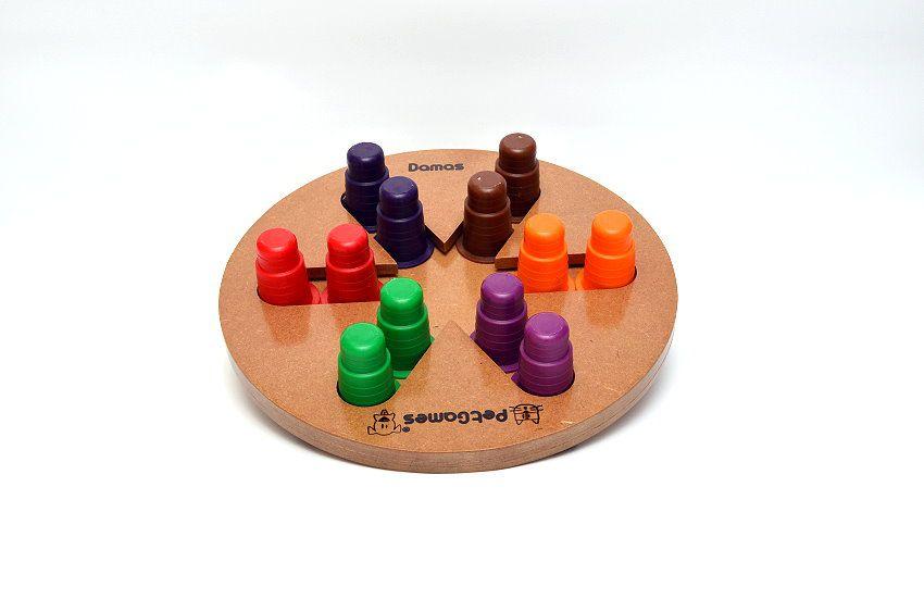 Brinquedo Tabuleiro Jogo Interativo para cães Damas