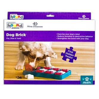Tabuleiro Dog Brick Tijolinhos Nina Ottosson para cães e gatos Nível Intermediário