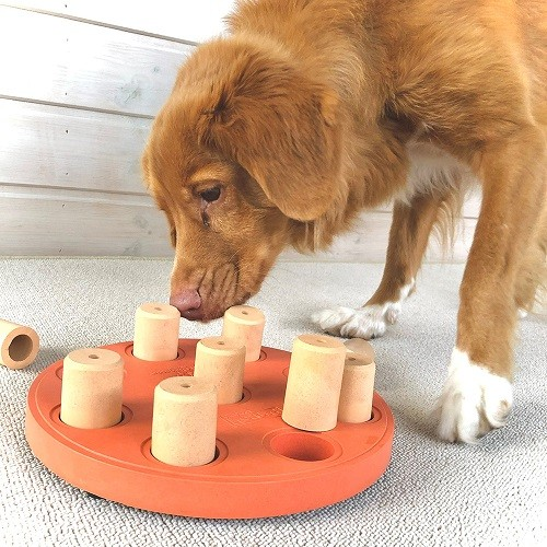 Tabuleiro Dog Smart Wood Nina Ottosson Nível iniciante para pets