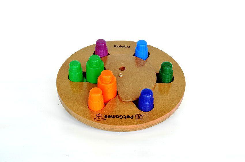 Brinquedo Tabuleiro Jogo Interativo Roleta Pet Games