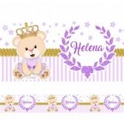 5 Faixas Decorativa Adesivo Infantil Bebê Ursinha Princesa