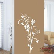 Adesivo de Parede Florais Floral 30 Branco
