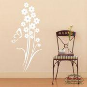 Adesivo de Parede Florais Floral 32 Branco