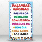 Banner Didático Palavras Mágicas