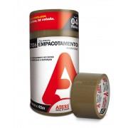 Fita Adesiva Marrom para Embalagem 45mm X 45m Pct 4 unid