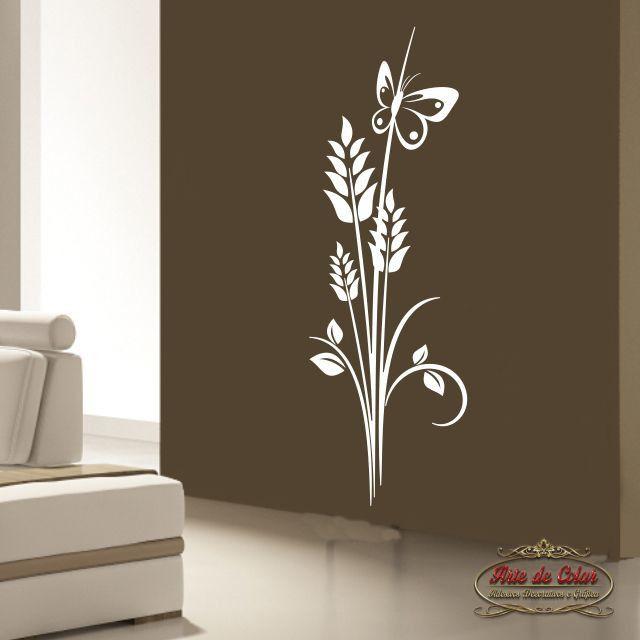 Adesivo de Parede Florais Floral 19 Branco