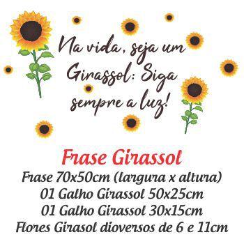 Adesivo de Parede Frases Girassol