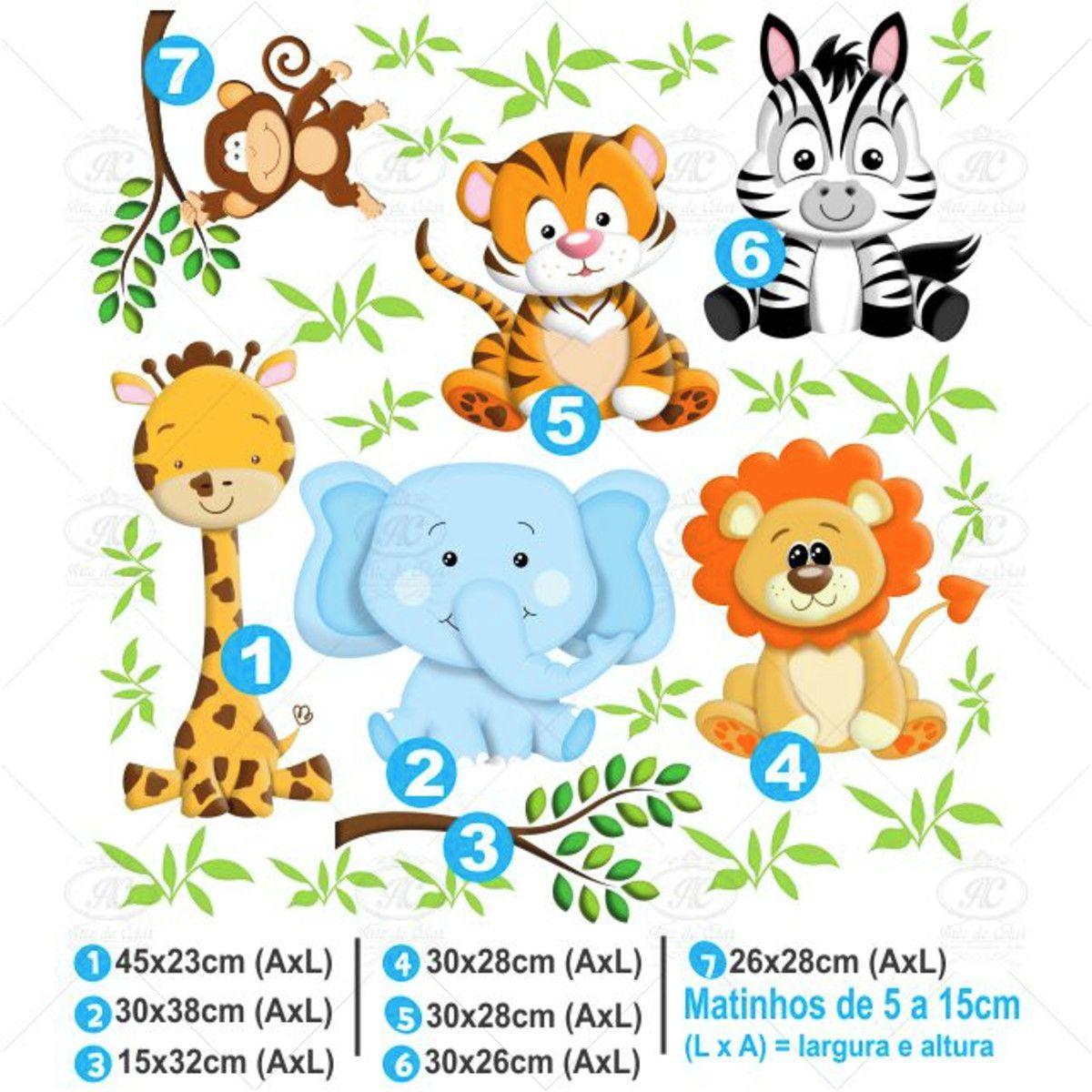 Adesivo de Parede Infantil Safari