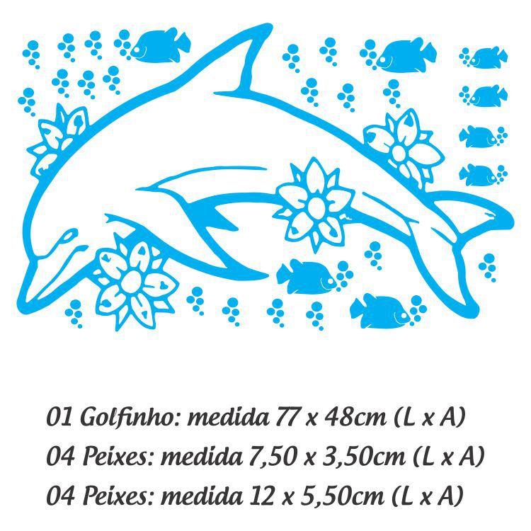 Adesivo Para Box De Banheiro Golfinho - Branco