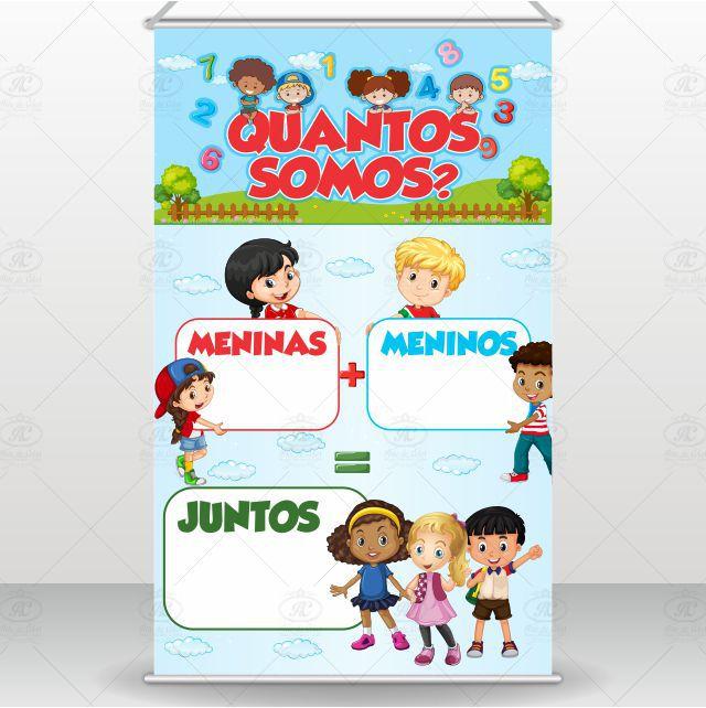 Banner Pedagógico Didático Quantos Somos