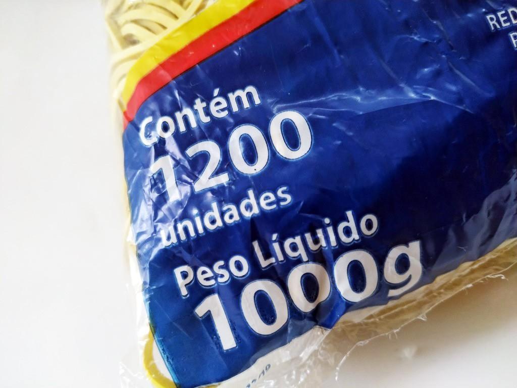 Elástico Amarelo Látex Nº 18 Pct com 1200 unidades 1kg