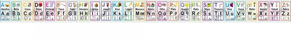 Faixa Pedagógico Didático Alfabeto