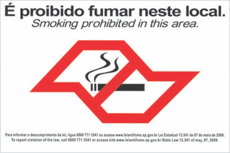 Placa É Proibido Fumar Neste Local 30x20cm Placa Sinalização