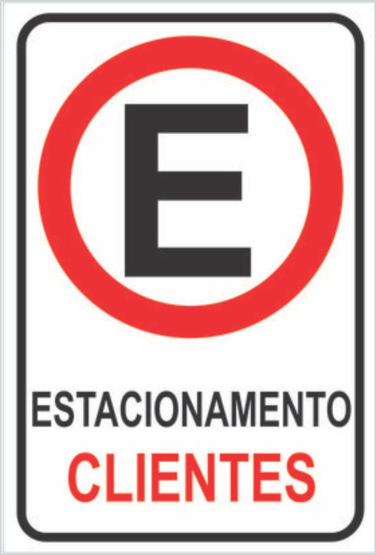 Placa Estacionamento para Clientes Placa Sinalização 20x30cm