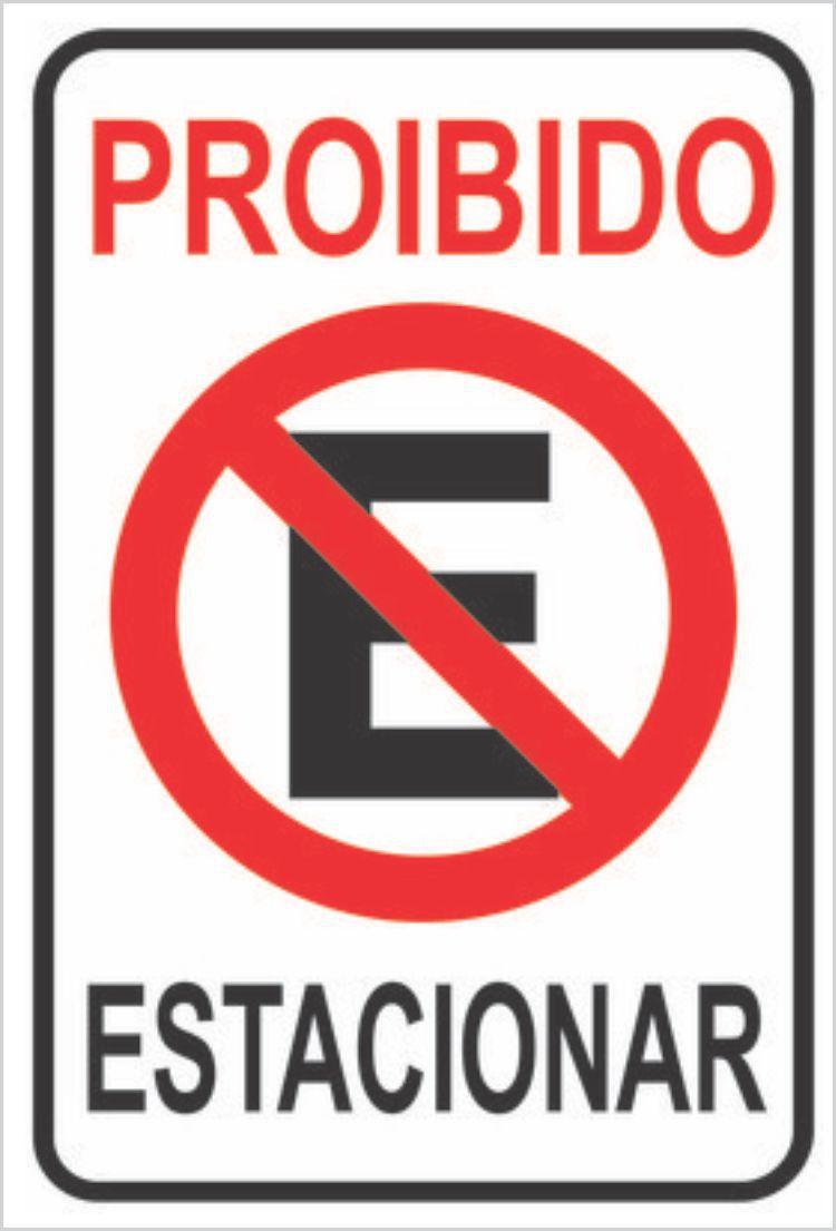 Placa Proibido Estacionar para Garagem - Placa de Sinalização 20x30cm