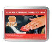 Barra de Descontaminação Clay Bar Agressiva Vermelha KERS 160GR