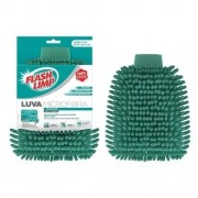 Luva de Lavagem em Microfibra Verde FLASH LIMP