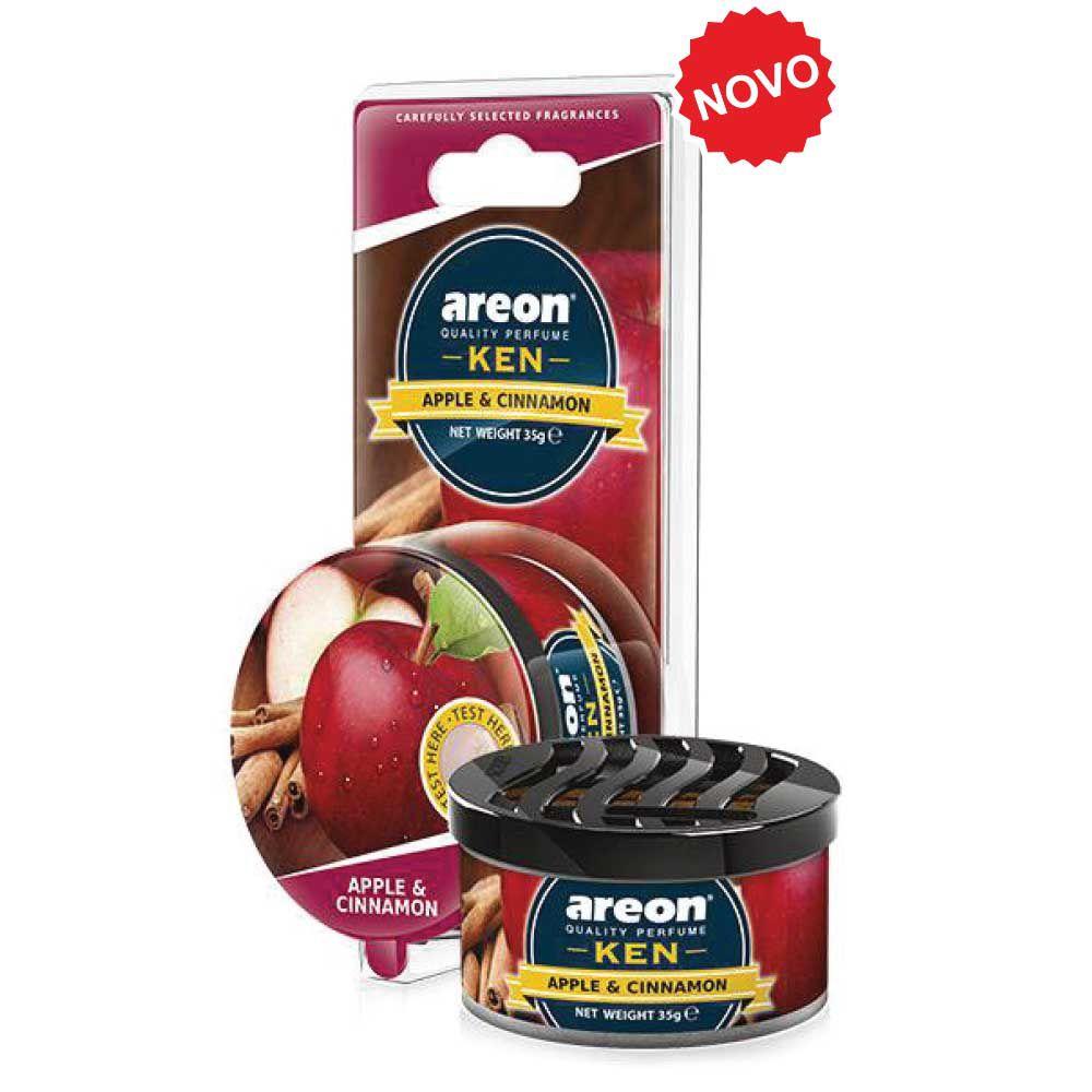 Aromatizante Ken Blister Apple And Cinnamon-Maçã e Canela AREON