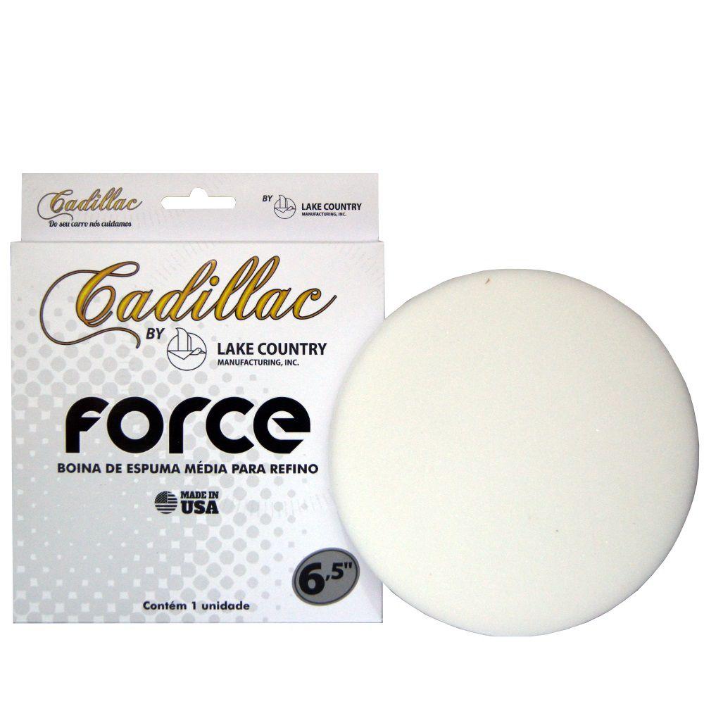 Boina de Espuma Branca Force Refino CADILLAC 6,5 POL
